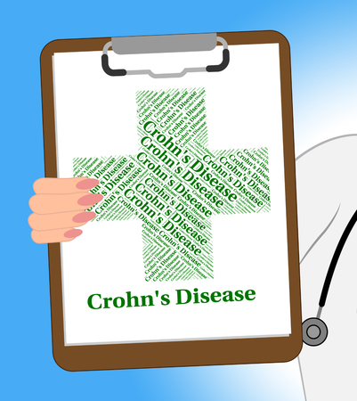 crohn's disease: Crohns Disease Representing Regional Enteritis And Crohns Stock Photo