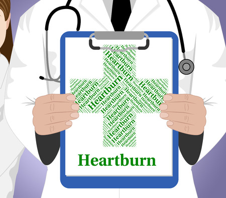 acidity: Heartburn Word Meaning Ill Health And Pyrosis Stock Photo