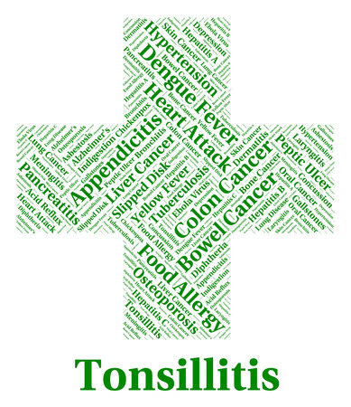 indisposition: Tonsillitis Illness Representing Strep Throat And Indisposition