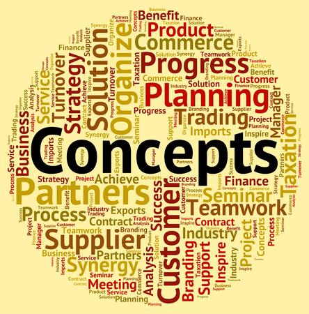 hipótesis: Conceptos Palabra Indicando Noción Wordcloud y la idea