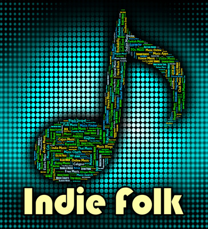 tune: Indie Folk Indicating Sound Track And Tune Stock Photo