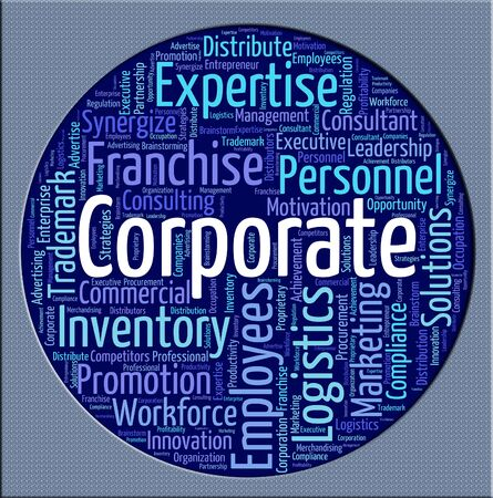 corporation: Corporate Word Showing Corporation Company And Corporations