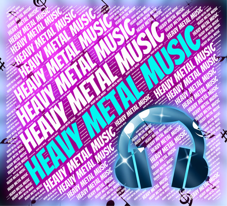 metal music: Heavy Metal Music Indicating Sound Track And Harmonies