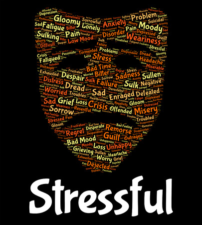 tension: Stressful Word Meaning Pressures Overload And Tension