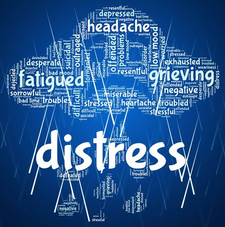 distressing: Distress Word Indicating Worked Up And Wordclouds