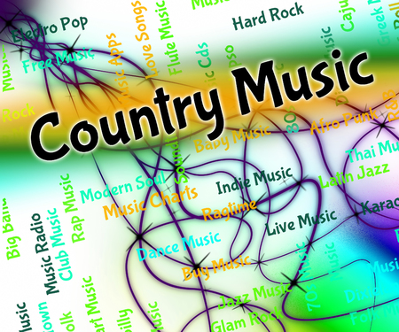 country music: Country Music Zeige Tonspuren And Western Lizenzfreie Bilder