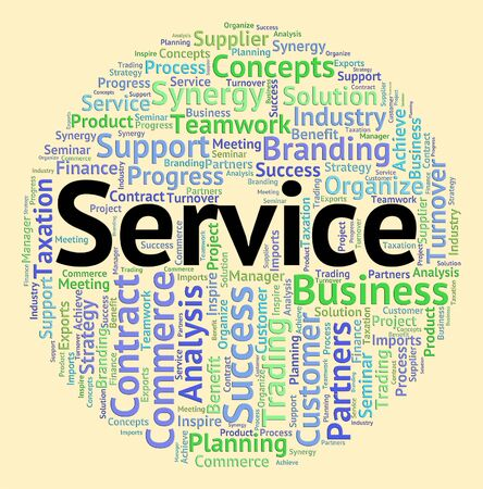 service desk: Service Word Representing Help Desk And Text