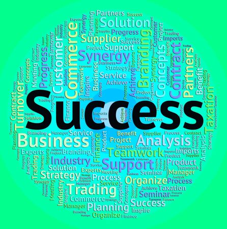 success word: Success Word Showing Wordcloud Victors And Victorious