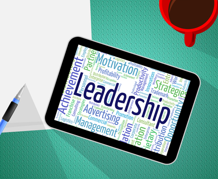 influence: Leadership Word Representing Guidance Influence And Words