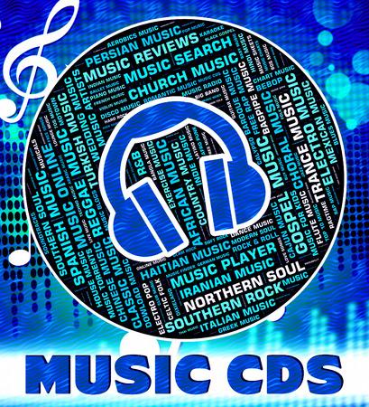 soundtrack: Music Cds Showing Sound Track And Soundtrack Stock Photo