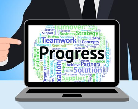 wordcloud: Progress Word Indicating Progression Text And Wordcloud