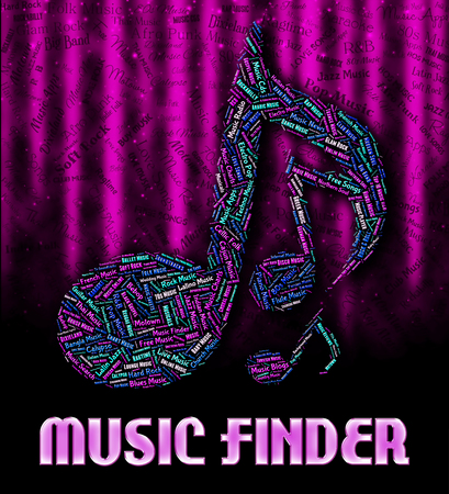 finders: Music Finder Indicating Sound Tracks And Harmonies Stock Photo