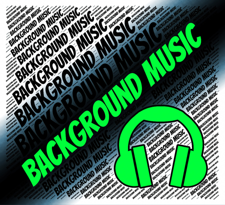 piped: Background Music Showing Sound Tracks And Ubderscore Stock Photo