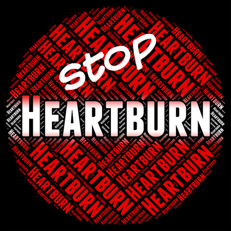 acidity: Stop Heartburn Meaning Warning Sign And Acidity Stock Photo