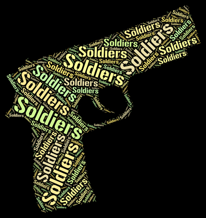 servicewoman: Soldiers Word Showing Comrade In Arms And Fighting Man