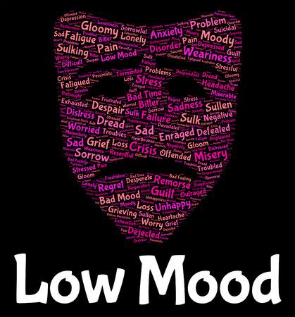 dejected: Low Mood Representing Grief Stricken And Dejected