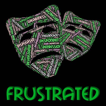 Frustrated Word Meaning Embittered Wordcloud And Text Banco de Imagens