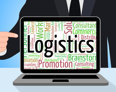 systematic: Logistics Word Showing Strategies Plan And Systematic Stock Photo