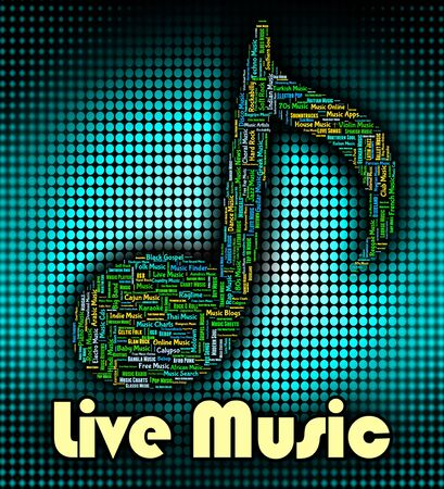 melodies: Live Music Representing Sound Tracks And Harmony Stock Photo