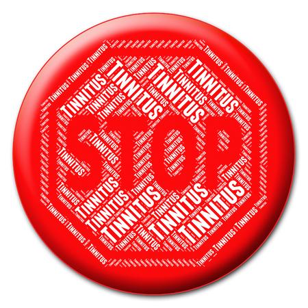 停止耳鳴り表示を防ぐ停止とソフト 写真素材