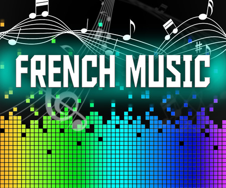 harmonies: French Music Meaning Sound Track And Audio Stock Photo