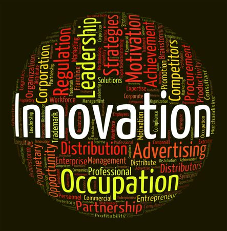 innovation word: Innovation Word Indicating New Idea And Words