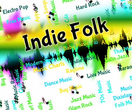 melodies: Indie Folk Meaning Sound Tracks And Musical Stock Photo