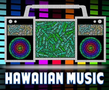 harmonies: Hawaiian Music Representing Sound Track And Song Stock Photo