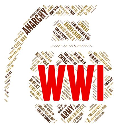 guerre mondiale: World War I Meaning Military Action And Globalise Banque d'images