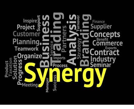 sinergia: Mostrando sinergia Palabra trabajo en equipo y Wordcloud