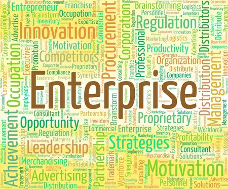 business concern: Enterprise Word Representing Wordclouds Concern And Business