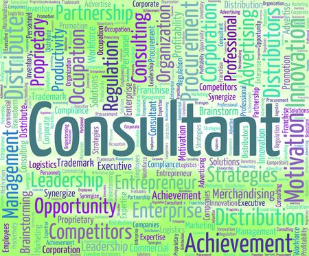 advisers: Consultant Word Showing Counsellor Wordcloud And Specialist
