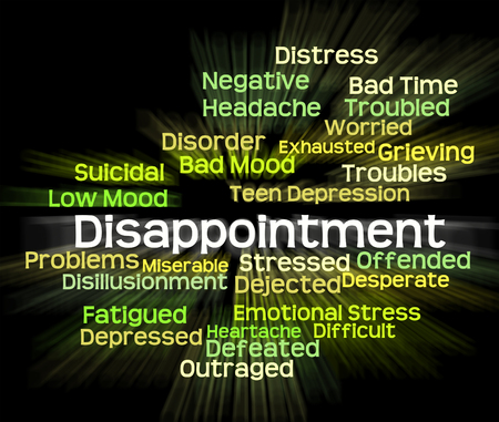 cabizbajo: La decepci�n significado de palabras Let Down Y Texto