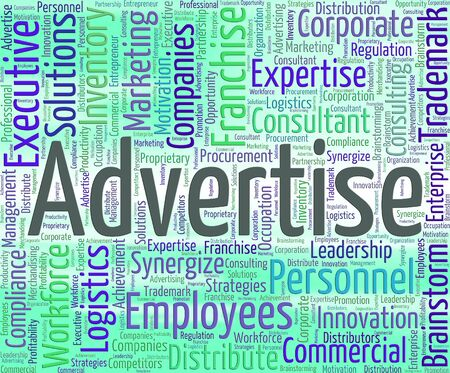 advertise: Advertise Word Representing Wordclouds Text And Ads