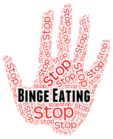 devour: Stop Binge Eating Showing Gobble Down And Overindulgent