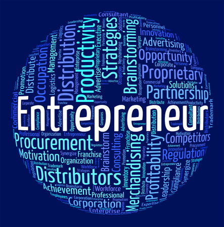 middleman: Entrepreneur Word Showing Business Person And Seller