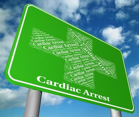 cardiac arrest: Cardiac Arrest Indicating Congestive Heart Failure And Heart Failures Stock Photo