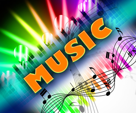 melodies: Music Word Meaning Sound Track And Audio Stock Photo