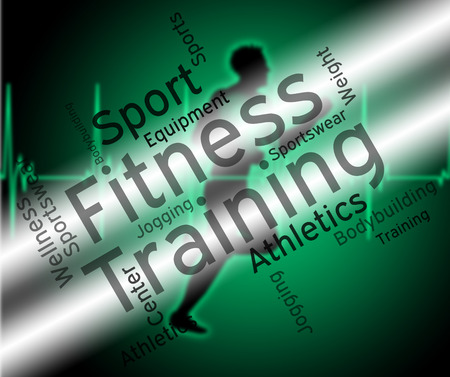 get a workout: Fitness Training Meaning Aerobic Text And Words