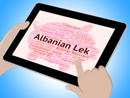 foreign currency: Albanian Lek Indicating Foreign Currency And Forex