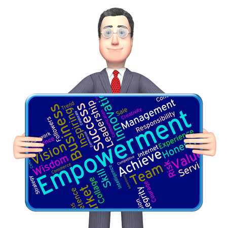 empowerment: Empowerment Words Showing Urge To And Empowers Stock Photo