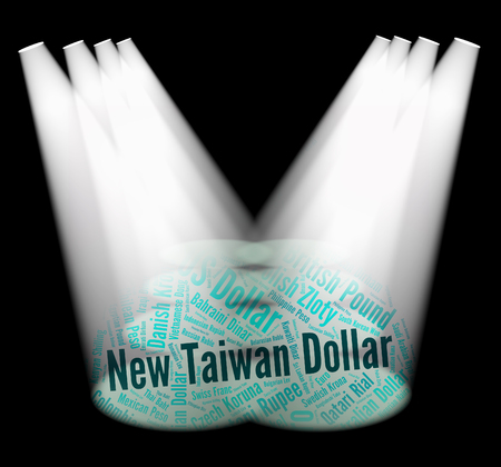 foreign currency: New Taiwan Dollar Showing Foreign Currency And Twd Stock Photo