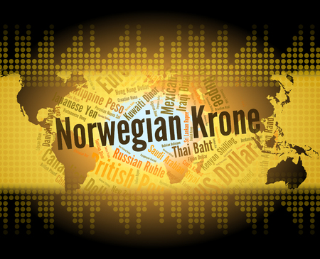 norwegian: Norwegian Krone Representing Currency Exchange And Fx