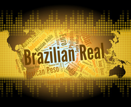 foreign exchange: Brazilian Real Indicating Foreign Exchange And Words