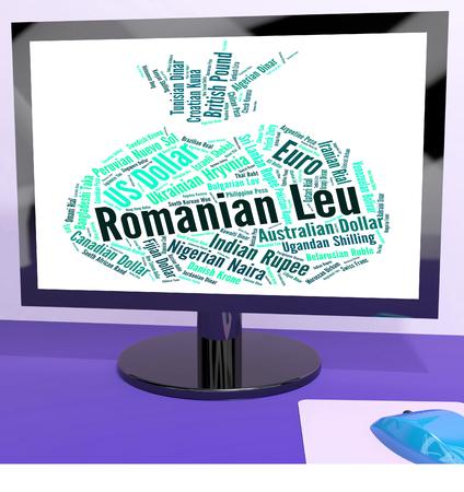 leu: Romanian Leu Representing Exchange Rate And Word
