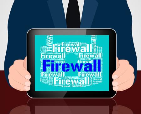 no access: Firewall Lock Representing No Access And Defence