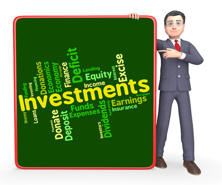 buy shares: Investments Word Showing Return Invests And Growth
