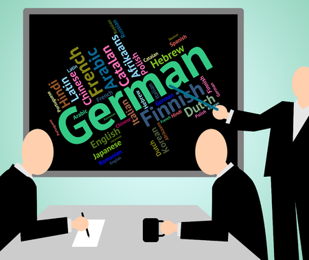 dialect: German Language Meaning Translator Words And Wordcloud Stock Photo