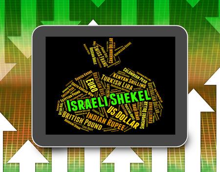 agente comercial: Shekel israelí Indicando moneda extranjera y Broker