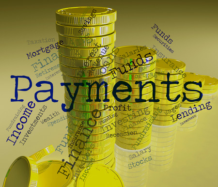 payable: Payments Word Representing Amount Instalment And Settlement